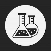 picture of beaker  - Experiment Beaker Icon - JPG