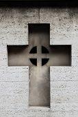 Carved cross gravestone
