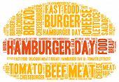stock photo of hamburger  - Hamburger day theme  - JPG