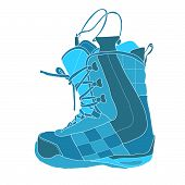 picture of ski boots  - Snowboard boot with high lace nice view - JPG