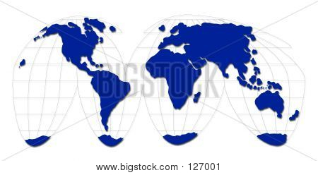 Blue World Map
