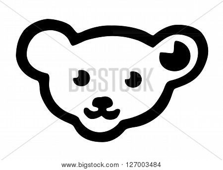 a silhouette of a teddy bear head