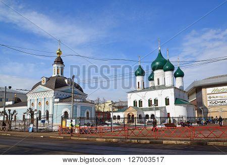 Russia, Yaroslavl-March 29.2016.  Church of the Presentation of the Lord and the Church of the Ascension