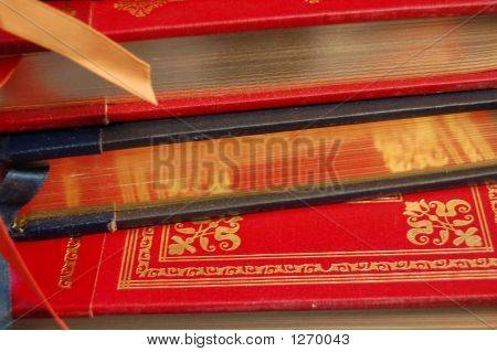Gold-Edged Book Stack