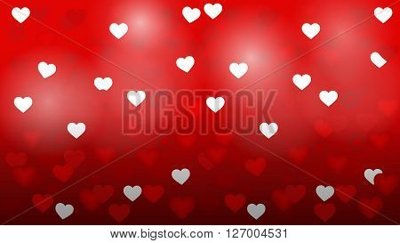 Valentine's day background with hearts, heart valentine light vector background