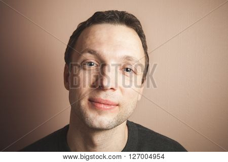 Young Handsome Positive Caucasian Man, Portrait