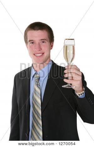 Business Man With Champagne