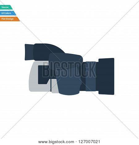 Flat Design Icon Of Premium Photo Camera