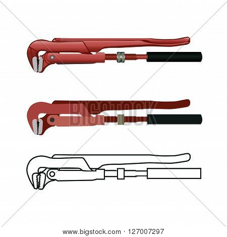 Realistic Pipe Wrench Plumber wrench multigrip pliers Stillson wrench
