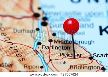 Pickering pinned on a map of UK