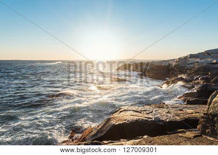 Famous Peggy's Cove shoreline (Nova Scotia Canada)