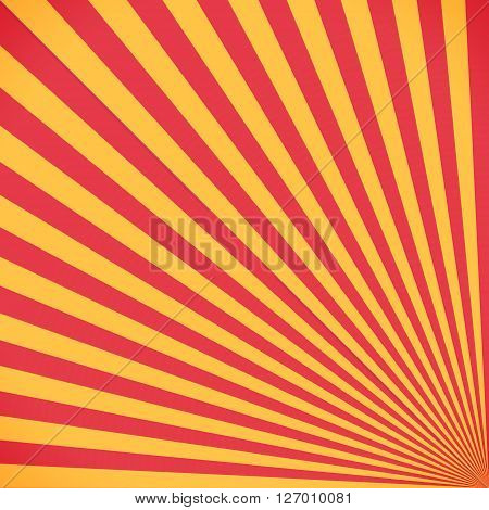 Red And Yellow Sunburst Circle And Background Pattern