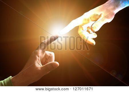 Touching Power high quality studio shot sun effect