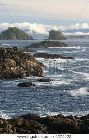 rocky shore crashing waves vancouver