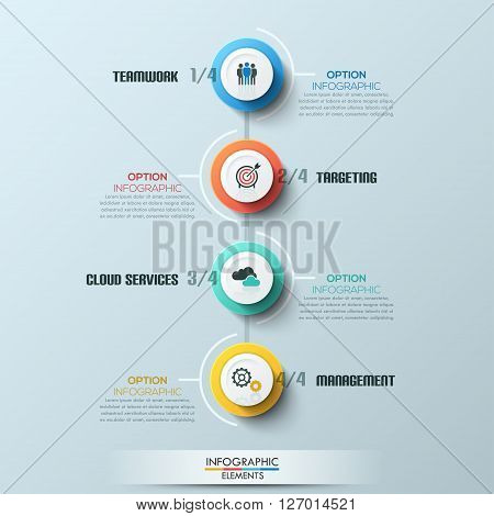 Modern business circle style process template. Vector. can be used for workflow layout, diagram, number options, step up options, web design, infographics, timeline.