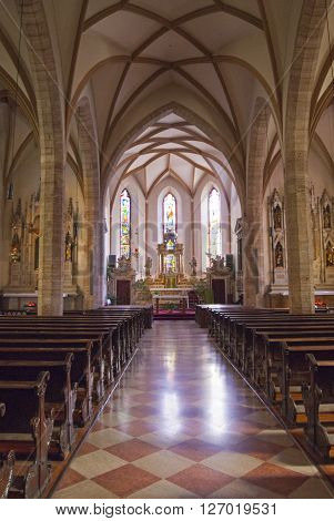 Typical Interior Of The Italian Church