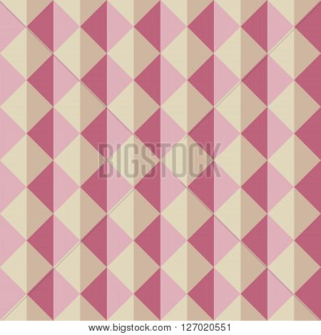 Seamless Pattern Of Triangles With Different Shades Of Pink