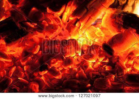 smoulder charcoal backdrop, closeup view