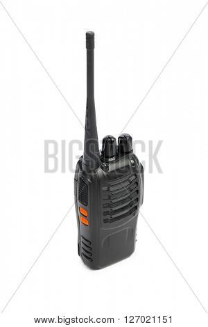 portable radio Walkie-talkie isolated on white