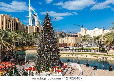Burj Al Arab And Christmas Tree