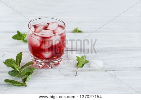 Cocktail With Juice And Ice