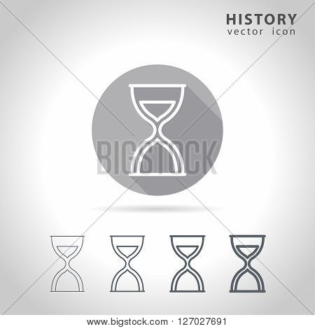 History outline icon set, collection of sand-glass outline icons, vector illustration