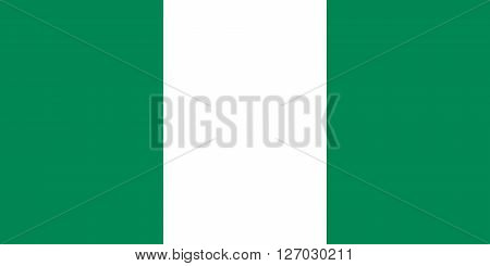 Nigerian flag in correct proportions and colors