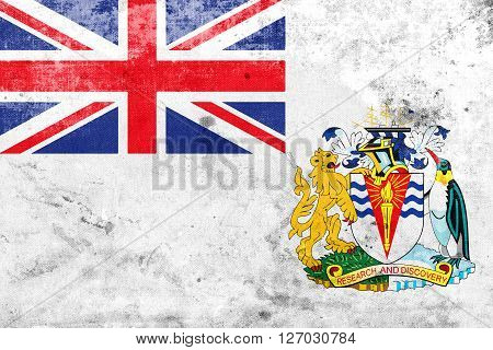 Flag Of The British Antarctic Territory, With A Vintage And Old