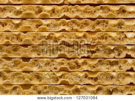Some Wheat Crispbread Closeup Shot