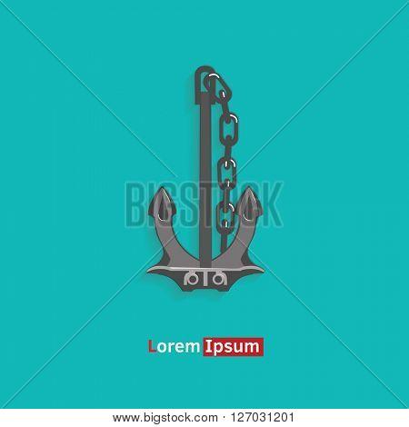 anchor symbol  vector illustration