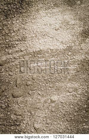Wet Sepia Concrete Background