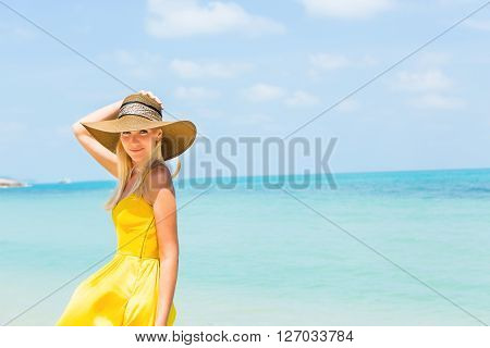 Beautiful Lady On The Beach