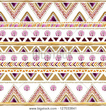 Colorful gold-purple handpainted backdrop, arabic or Indian decorative watercolor  texture