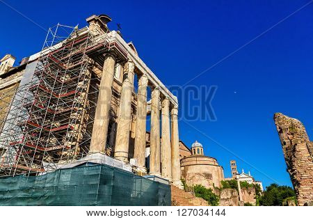 Temple of Antoninus and Faustina in the Roman Forum, Italy
