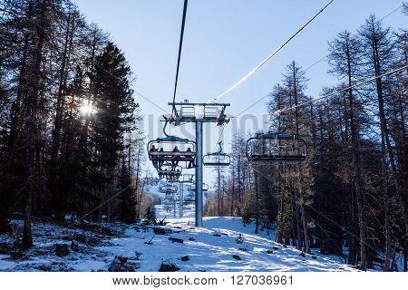 Ski Resort Les Orres, Hautes-alpes, France