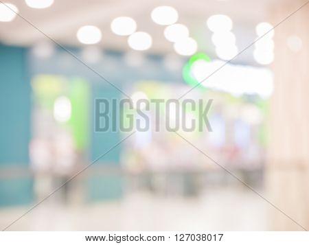 Blurred Background : Supermarket Store Blur