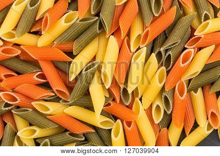 Three Color Penne Pasta