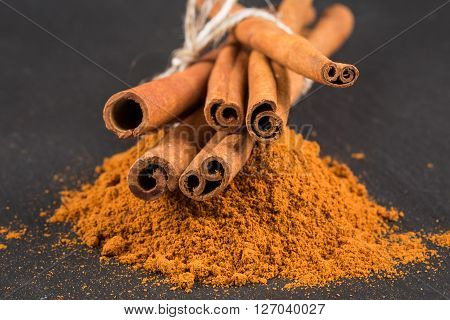 Cinnamon Sticks With Powder.