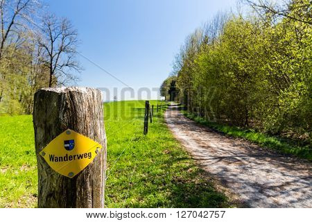 Hiking Trail On Mountain Heitersberg