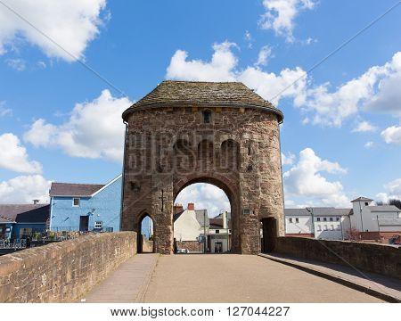 Monnow bridge Monmouth Wales uk historic tourist attraction Wye Valley