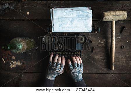 Writer With Machine