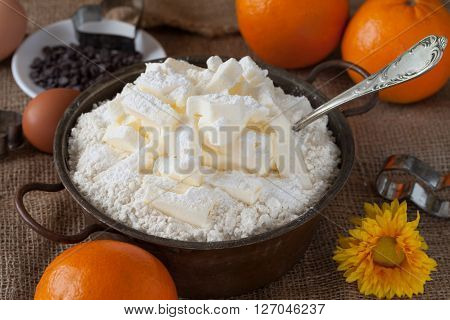 Butter Mixed With Flour