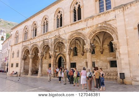 DUBROVNIK CROATIA - SEPTEMBER 1 2009: Rector's Palace houses the History Department of the Museum of Dubrovnik