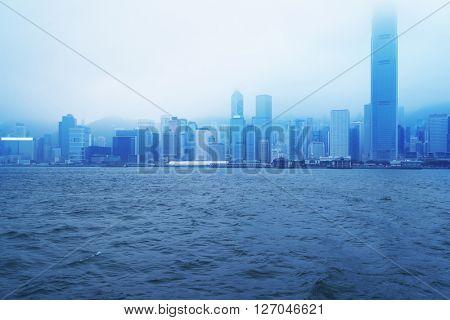 victoria harbour,hongkong china.