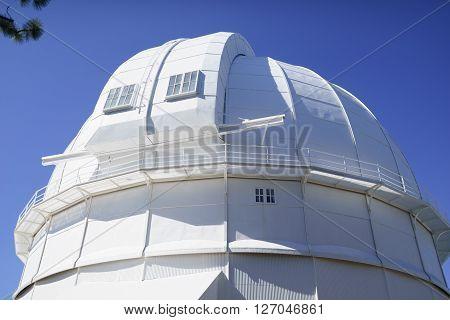 100-inch telescope white dome in Mt.Wilson in California