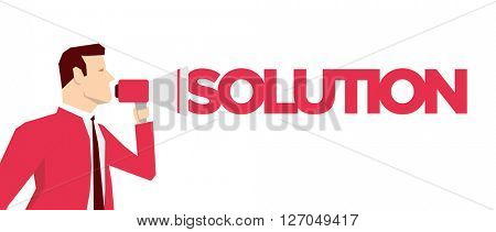 Red suit businessman. Vector concept illustration.