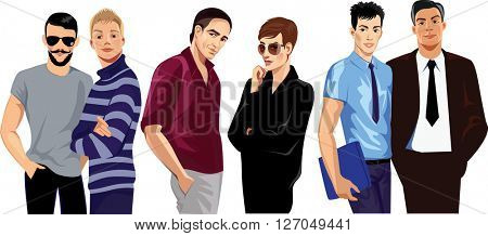 different fashion men
