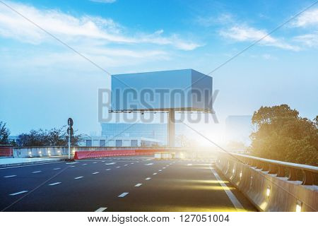 airport road under blue sky,chongqing china.