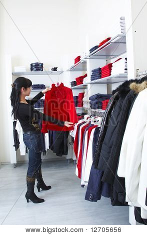 Girl And Shop