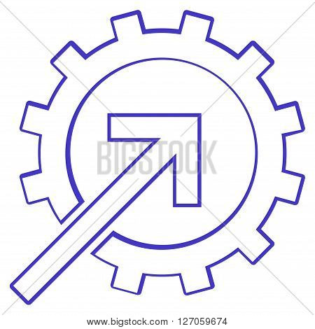 Integration Arrow vector icon. Style is thin line icon symbol, violet color, white background.